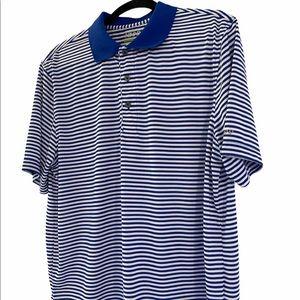 NWOT   IZOD   Striped Golf Polo Shirt   Size Large
